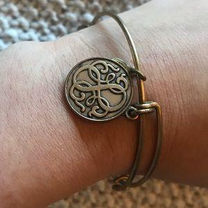 Gold Alex & Ani bracelet.